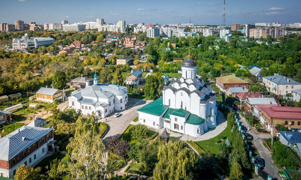 Город Владимир с высоты птичьего полета